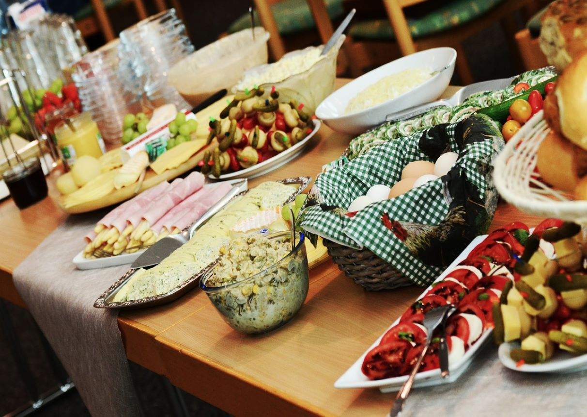 Use local dairies and caterers   Reduce your food travel miles
